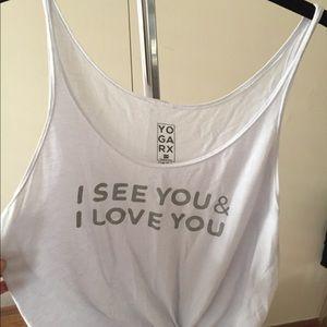 Yoga Rx I See You & I Love You Tank Top